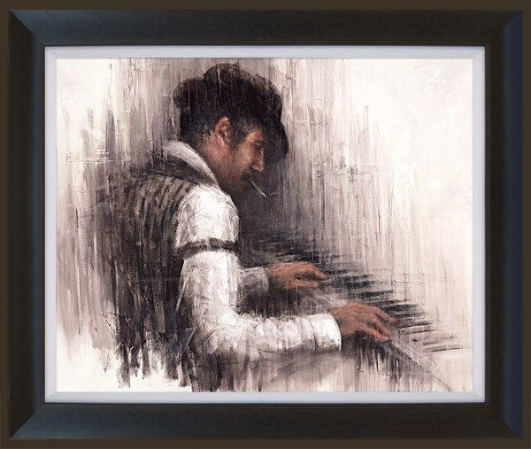 Piano Man - Framed by Remi Labarre