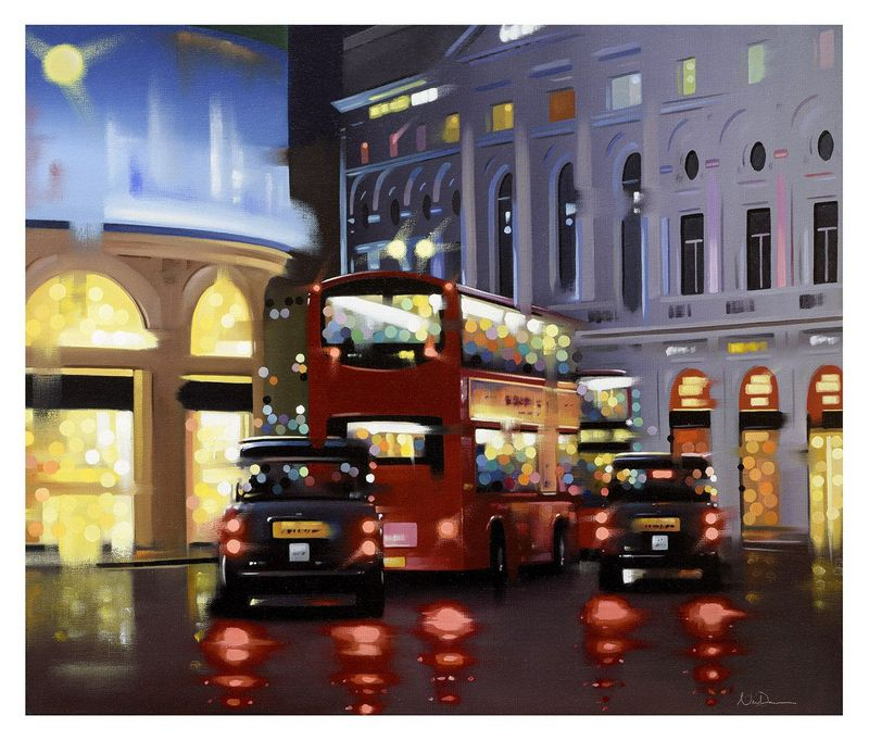 Piccadilly Night Adventure - Canvas - Board Only by Neil Dawson