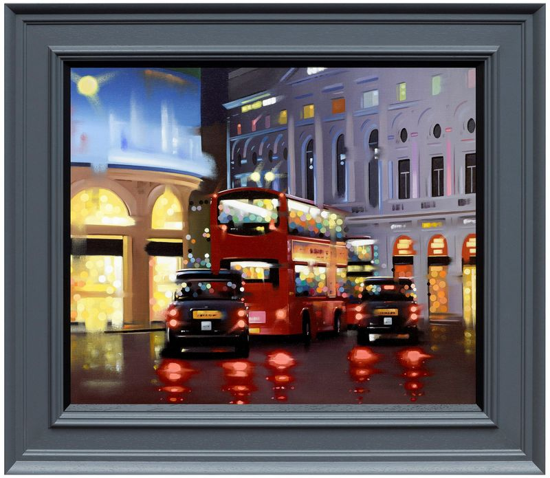 Piccadilly Night Adventure - Canvas - Framed by Neil Dawson