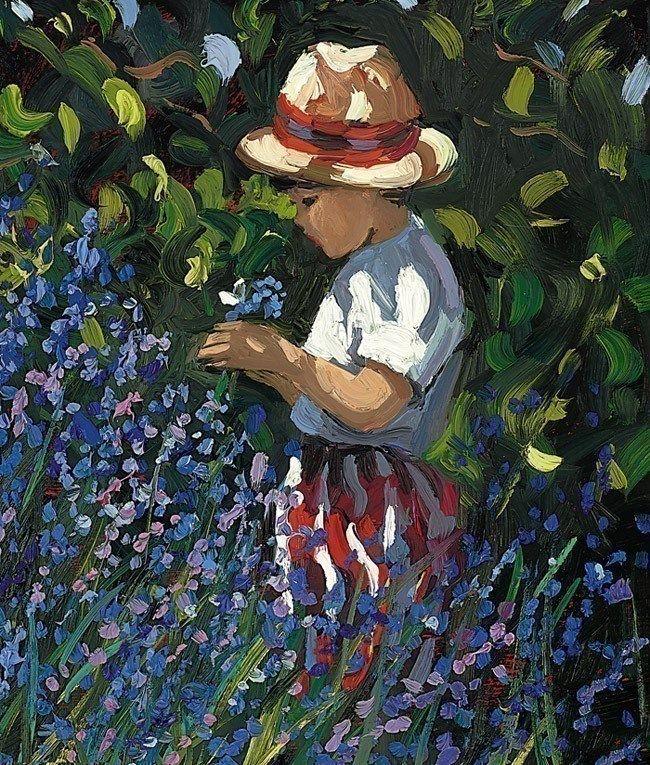 Picking Bluebells by Sherree Valentine Daines