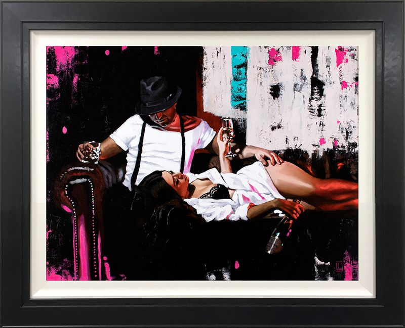 Pink Champagne - Canvas Framed by Richard Blunt