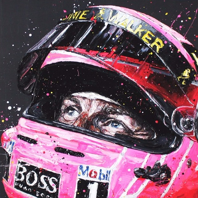 Pink For Papa - Canvas  - Framed by Paul Oz