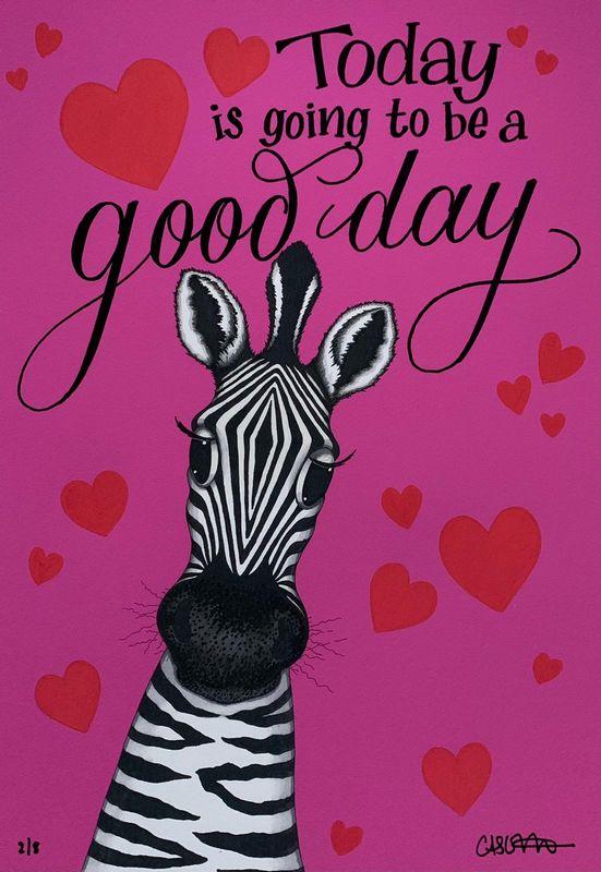 Pink Zebra by Caroline Shotton