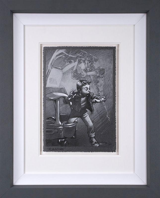 Playtime - Sketch - Framed by Craig Davison