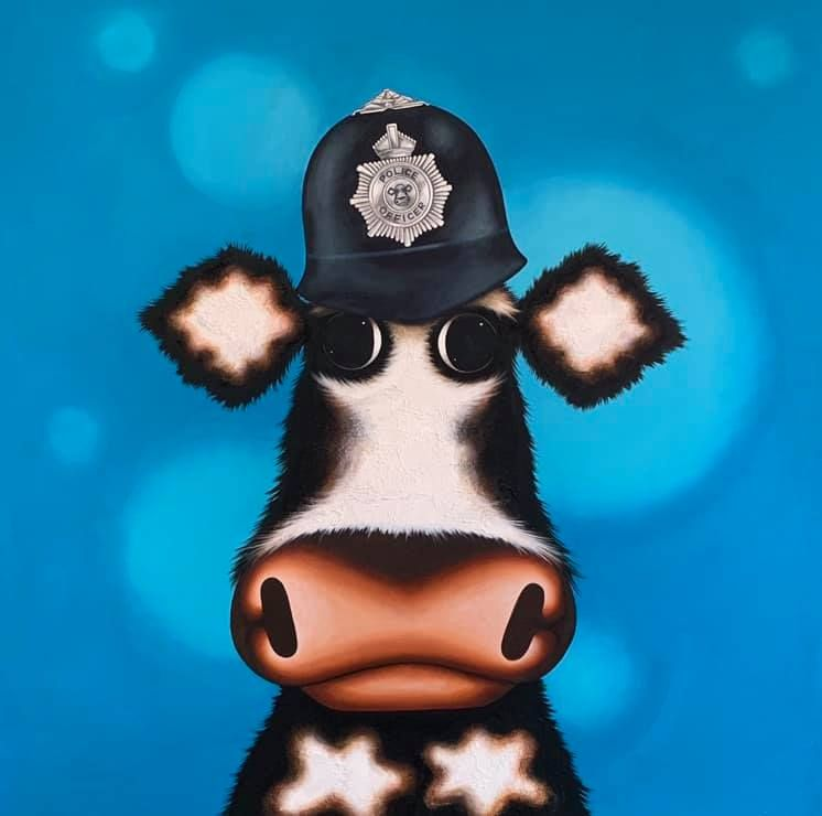 Policemoo by Caroline Shotton