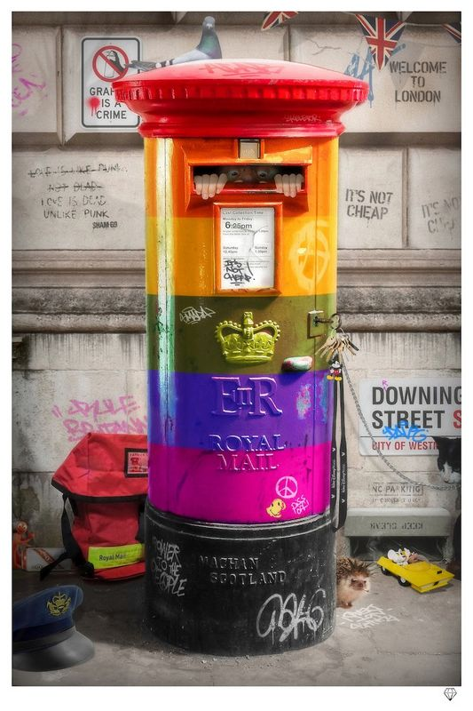 Postman Patrick - Rainbow Edition - Mounted by JJ Adams
