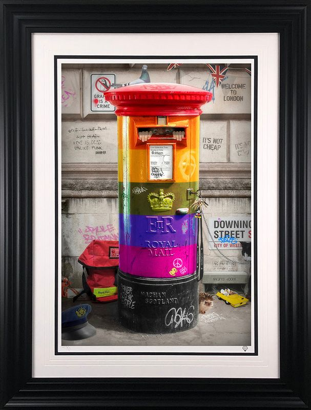 Postman Patrick - Rainbow Edition - Framed by JJ Adams