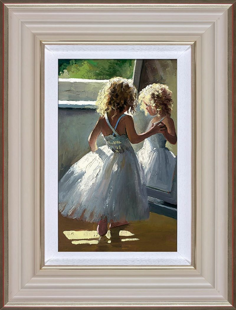 Pretty As A Picture - Cream - Framed by Sherree Valentine Daines
