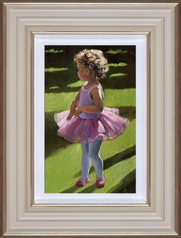 Pretty In PInk - Cream - Framed by Sherree Valentine Daines