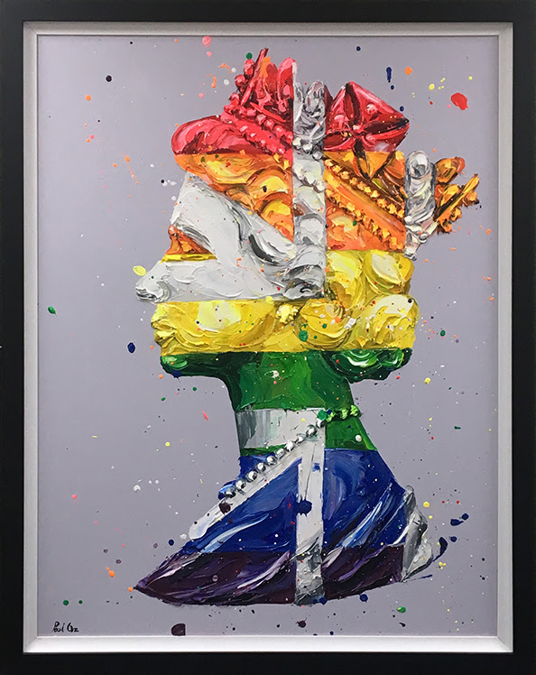 Pride Queen - Canvas - Black - Framed by Paul Oz