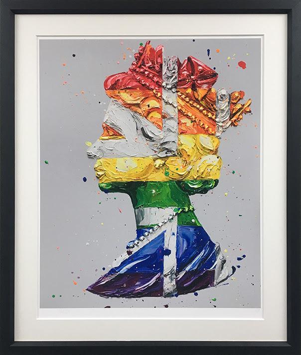 Pride Queen - Black - Framed by Paul Oz