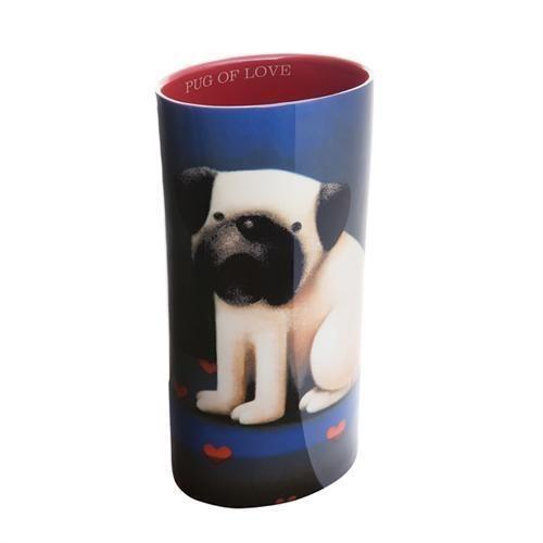 Pug Of Love - Vase by Doug Hyde
