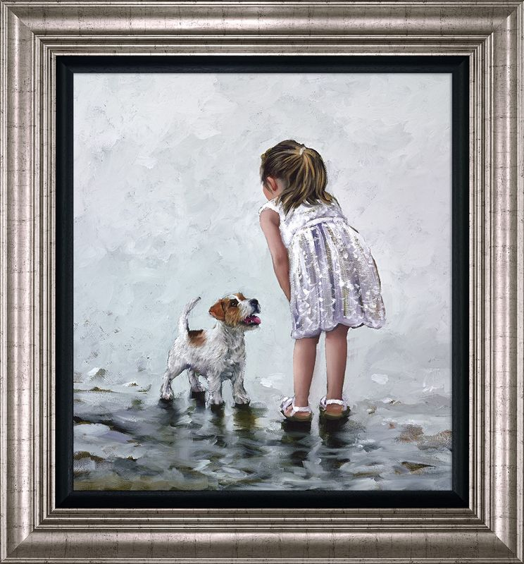 Puppy Love - Framed by Keith Proctor