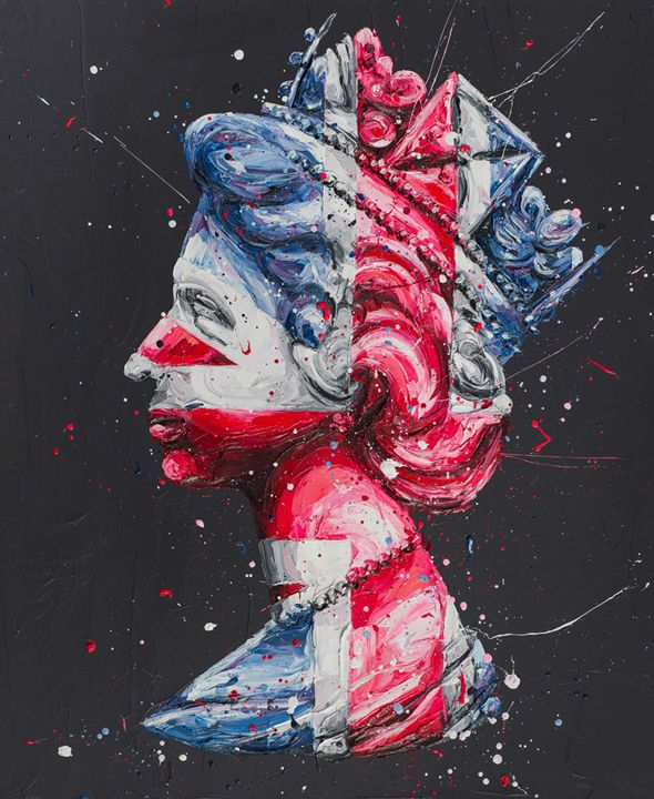 Queen Of Neon - Canvas - Black - Framed by Paul Oz