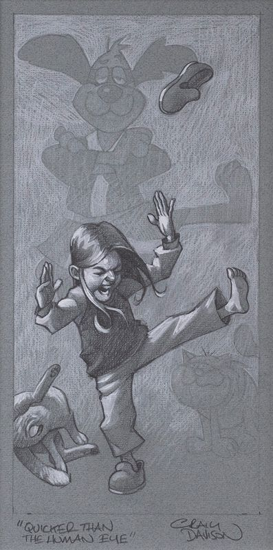 Quicker Than The Human Eye - Sketch - Artist Proof - Mounted by Craig Davison