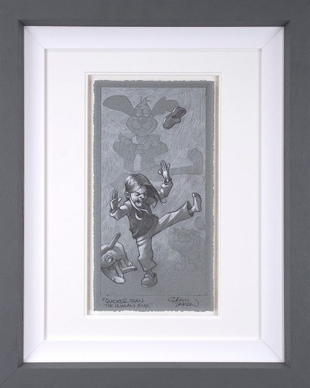 Quicker Than The Human Eye - Sketch - Artist Proof Grey - Framed by Craig Davison
