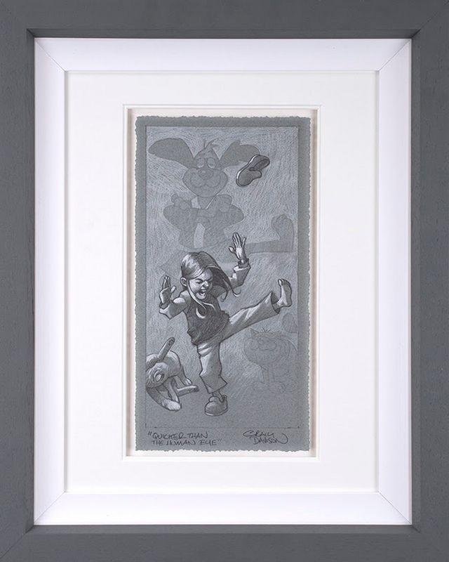 Quicker Than The Human Eye - Sketch - Grey - Framed by Craig Davison