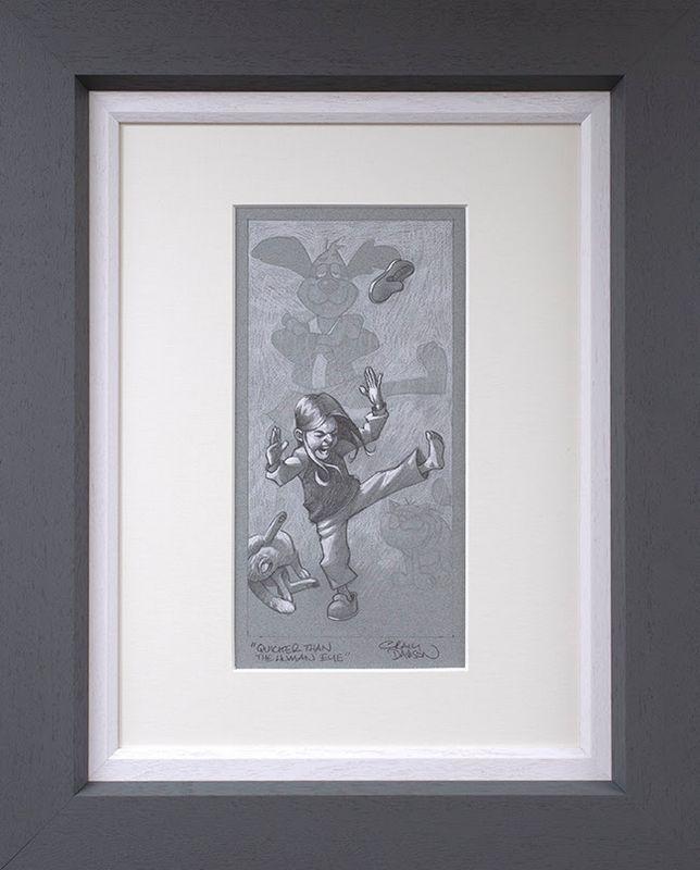 Quicker Than The Human Eye - Sketch - Original - Grey - Framed by Craig Davison