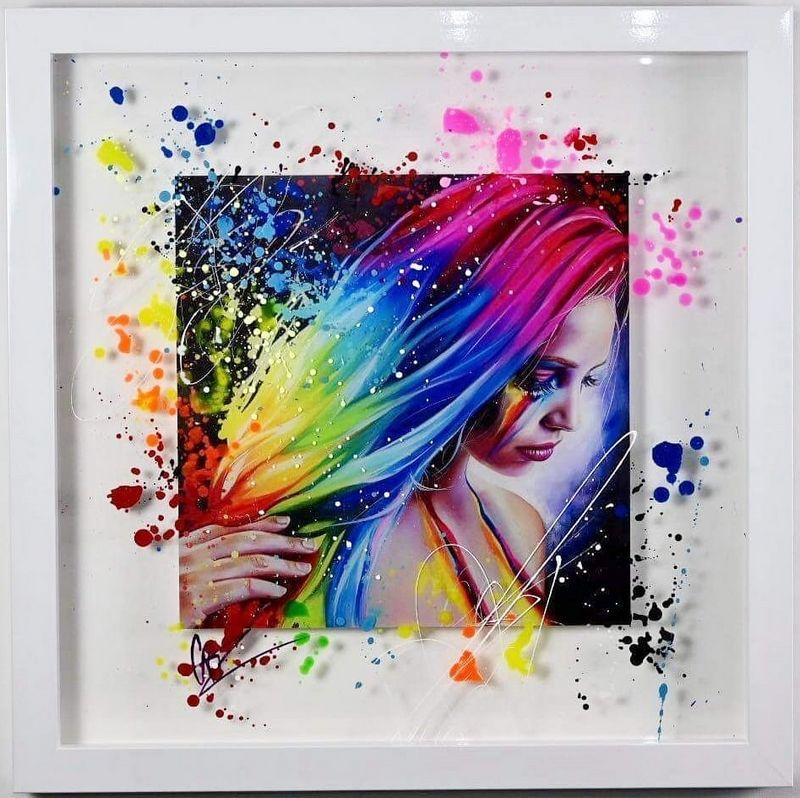 Rainbow Tears - Artist Proof White Framed by Emma Grzonkowski