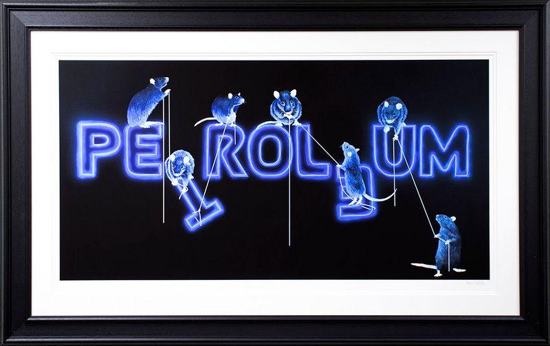 Rats Fixing Petroleum  - Framed by Dean Martin *Mad Artist