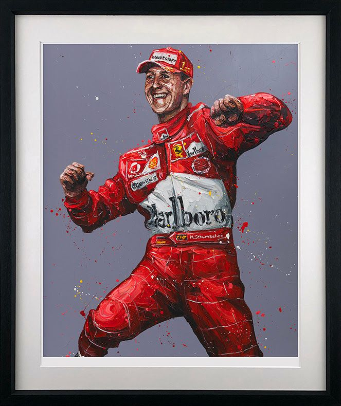 Records Were There To Be Broken (Schumacher) - Black - Framed by Paul Oz