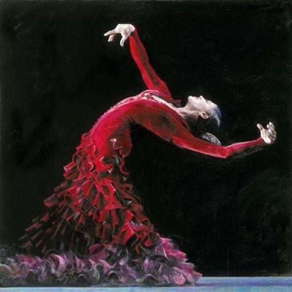 Red Velvet - Black Frame - Framed by Fletcher Sibthorp
