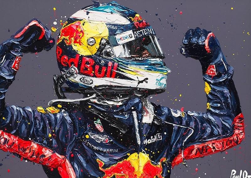 Ricciardo Retribution Monaco 18 (Daniel Ricciardo) - Canvas - Framed by Paul Oz