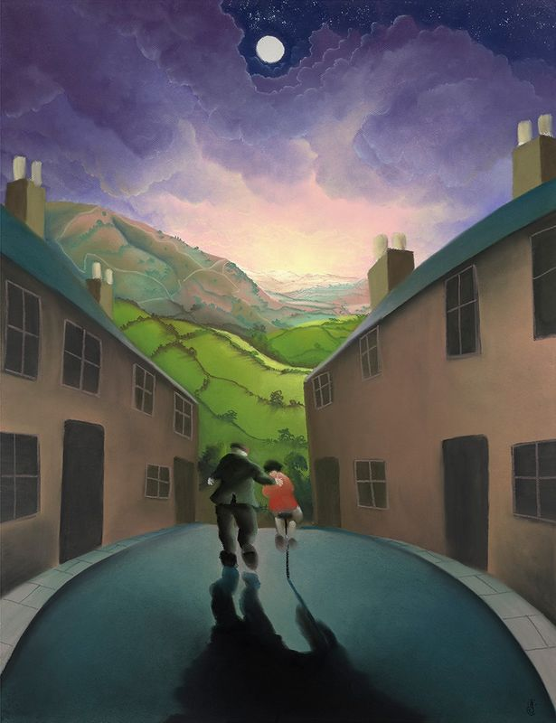 Riding With Grandad by Mackenzie Thorpe