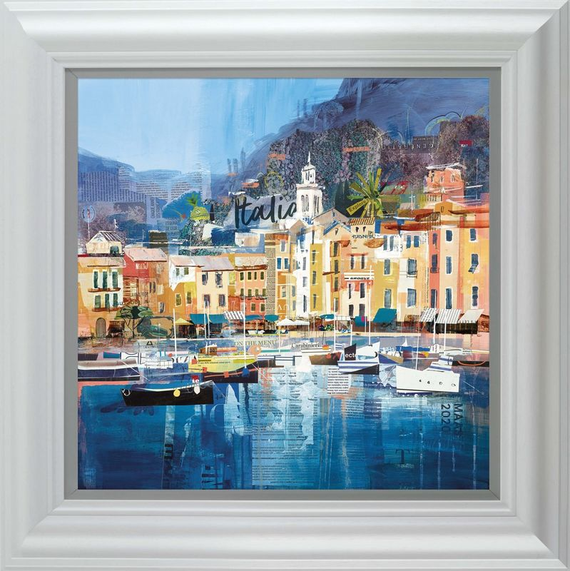 Riviera Dreaming - White - Framed by Tom Butler