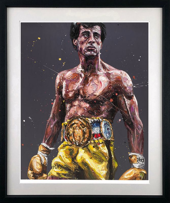 Rocky - Artist Proof - Black - Framed by Paul Oz