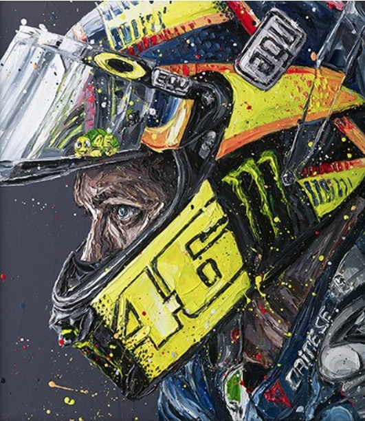 Rossi Helmet 17 - Canvas - Framed by Paul Oz
