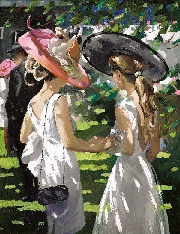 Royal Ascot Ladies Day I - Board Only by Sherree Valentine Daines