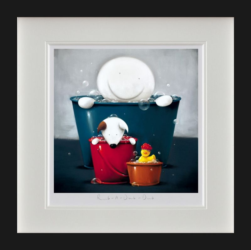 Rub A Dub Dub - Black Framed by Doug Hyde