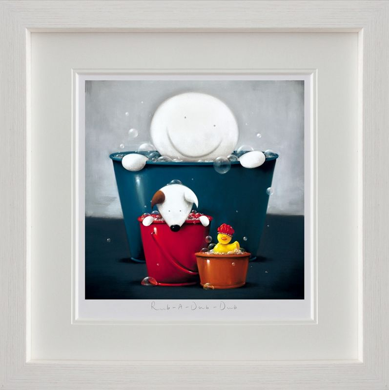 Rub A Dub Dub - White Framed by Doug Hyde