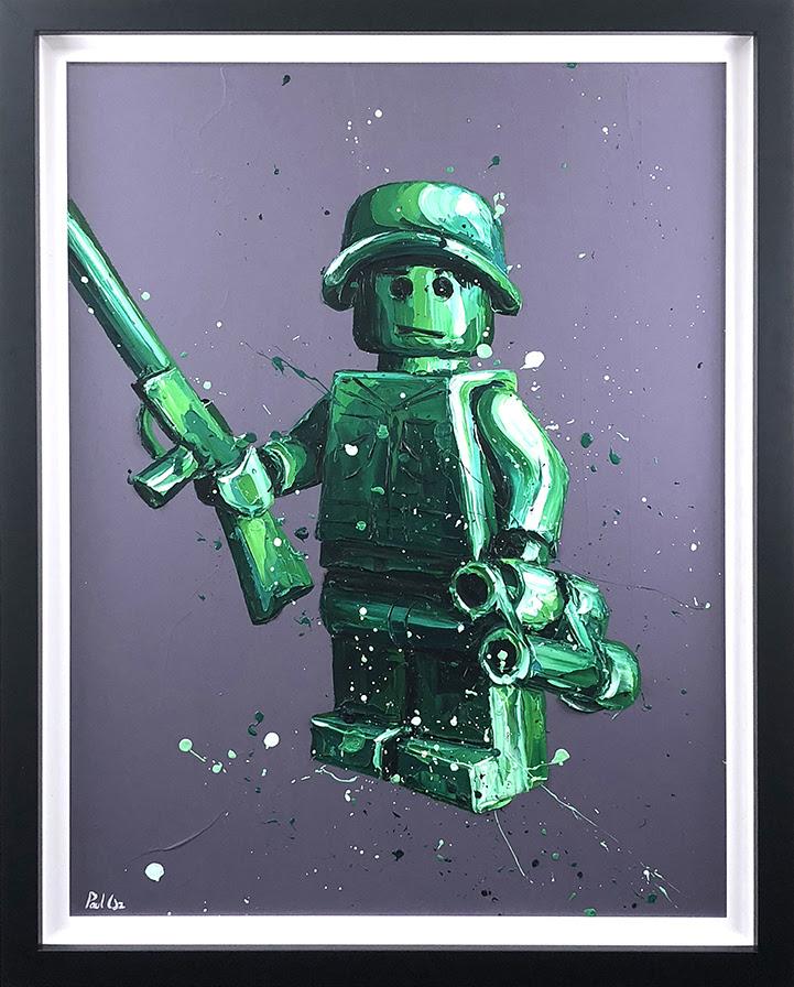 Ryan (Lego) - Canvas - Framed by Paul Oz