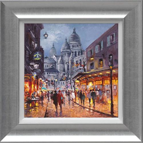 Sacre Coeur, Midnight - Framed