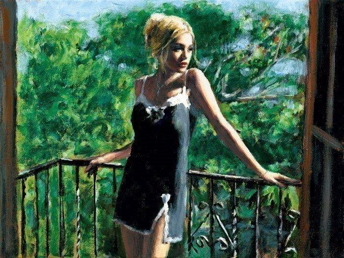 Sally In The Sun by Fabian Perez