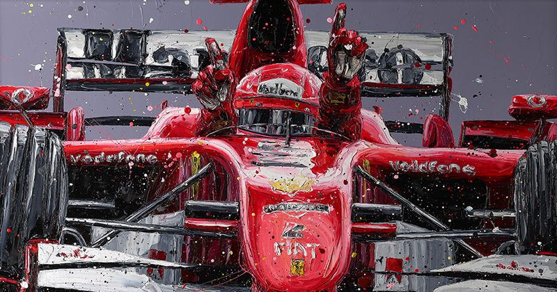Schumi's Last Win (Michael Schumacher) by Paul Oz