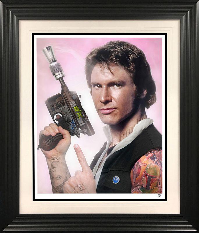 Scoundrel - Han Solo - Black - Framed by JJ Adams