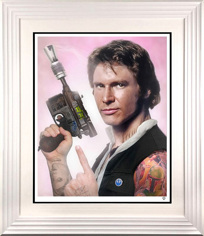 Scoundrel - Han Solo - White - Framed by JJ Adams