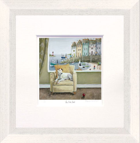 Sea Side Seat - Framed by Rebecca Lardner