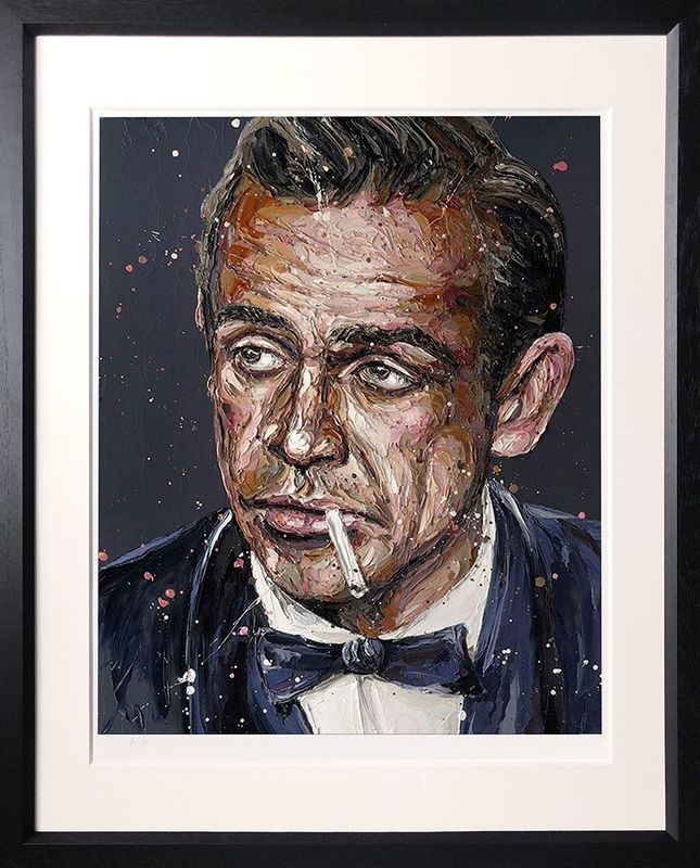 Sean Connery 007 - Artist Proof Black - Framed by Paul Oz