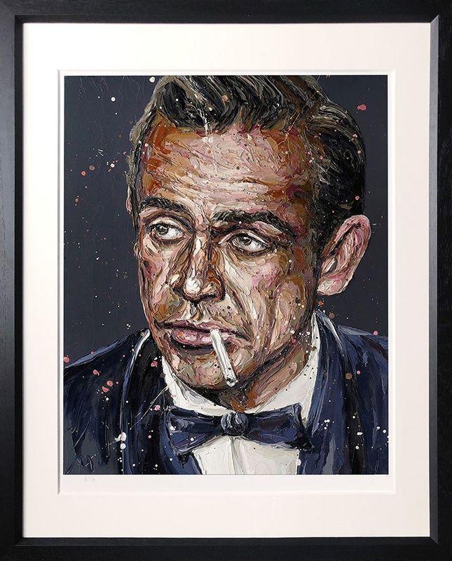Sean Connery 007 - Black - Framed by Paul Oz