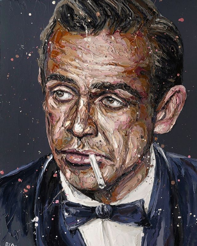 Sean Connery 007 - Artist Proof - Mounted by Paul Oz