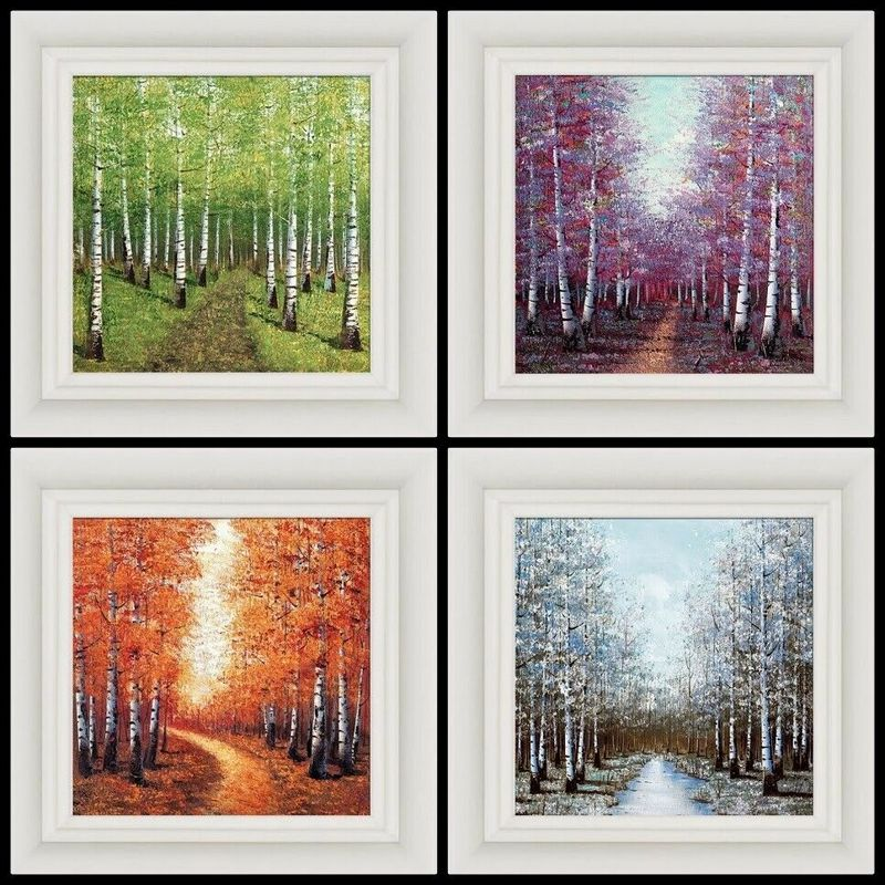Seasons Set Of 4 - Framed by Inam