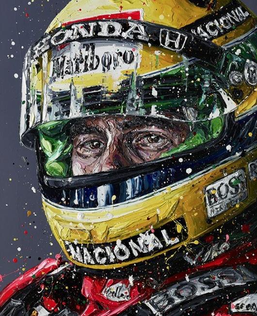 Senna 2018 (Ayrton Senna) - Canvas - Framed by Paul Oz