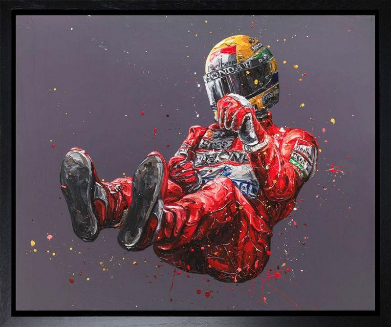 Senna Bronze (Ayrton Senna) - Canvas Artist Proof - Framed by Paul Oz