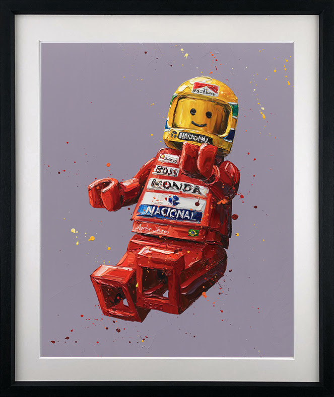 Senna Lego - Artist Proof Black - Framed by Paul Oz
