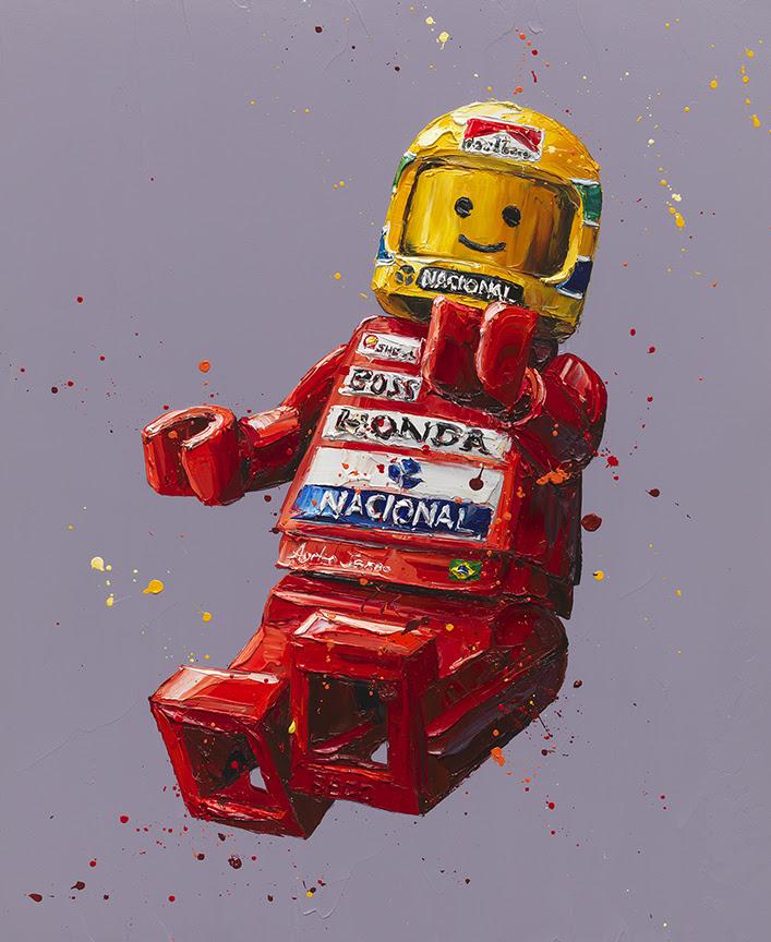 Senna Lego - Artist Proof - Mounted by Paul Oz