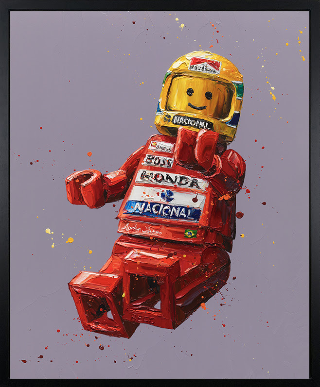 Senna Lego - Canvas - Black Framed Box Canvas by Paul Oz